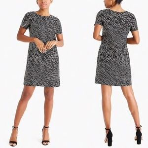 J. CREW Shift Dress in Gold Heart Print